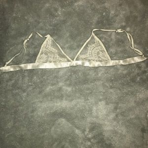 Other - White lace bralette, never worn, x-small